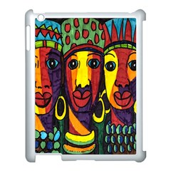 Ethnic Bold Bright Artistic Paper Apple Ipad 3/4 Case (white)