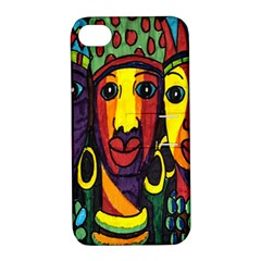 Ethnic Bold Bright Artistic Paper Apple Iphone 4/4s Hardshell Case With Stand