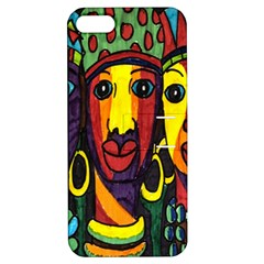 Ethnic Bold Bright Artistic Paper Apple Iphone 5 Hardshell Case With Stand