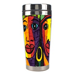 Ethnic Bold Bright Artistic Paper Stainless Steel Travel Tumblers