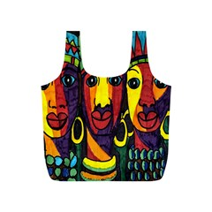 Ethnic Bold Bright Artistic Paper Full Print Recycle Bags (s)