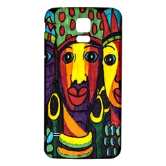 Ethnic Bold Bright Artistic Paper Samsung Galaxy S5 Back Case (white)