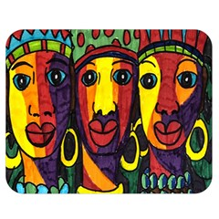 Ethnic Bold Bright Artistic Paper Double Sided Flano Blanket (medium)