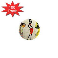 Woman Ethic African People Collage 1  Mini Magnets (100 Pack)