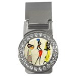 Woman Ethic African People Collage Money Clips (CZ)  Front