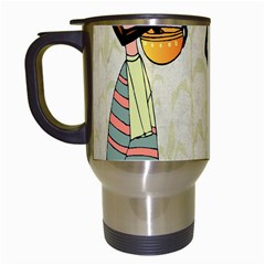Woman Ethic African People Collage Travel Mugs (white)