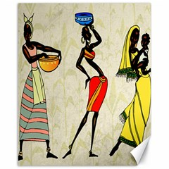 Woman Ethic African People Collage Canvas 16  X 20