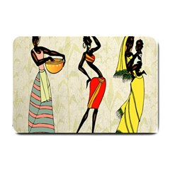 Woman Ethic African People Collage Small Doormat