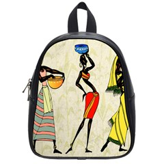 Woman Ethic African People Collage School Bag (small)