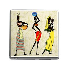 Woman Ethic African People Collage Memory Card Reader (square)