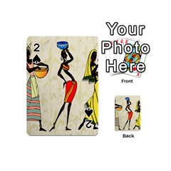 Woman Ethic African People Collage Playing Cards 54 (mini)