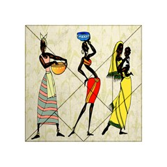 Woman Ethic African People Collage Acrylic Tangram Puzzle (4  X 4 )