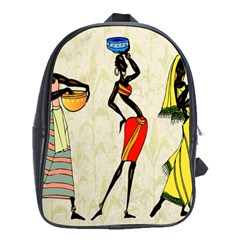 Woman Ethic African People Collage School Bag (xl)