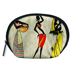 Woman Ethic African People Collage Accessory Pouches (medium)