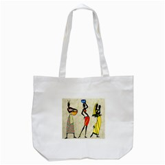 Woman Ethic African People Collage Tote Bag (white)