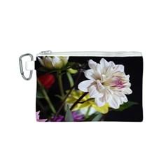 Dahlias Dahlia Dahlia Garden Canvas Cosmetic Bag (s)