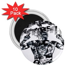 Black Music Urban Swag Hip Hop 2 25  Magnets (10 Pack)