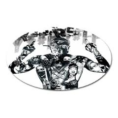 Black Music Urban Swag Hip Hop Oval Magnet