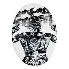 Black Music Urban Swag Hip Hop Oval Ornament (two Sides)