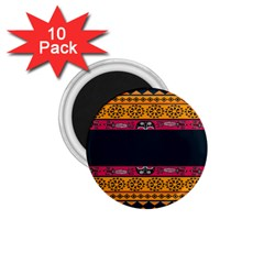 Pattern Ornaments Africa Safari 1 75  Magnets (10 Pack)