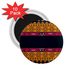 Pattern Ornaments Africa Safari 2 25  Magnets (10 Pack)