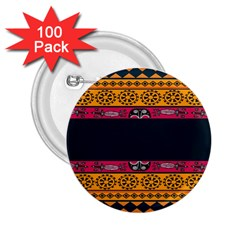 Pattern Ornaments Africa Safari 2 25  Buttons (100 Pack)