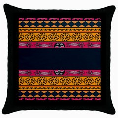 Pattern Ornaments Africa Safari Throw Pillow Case (black)