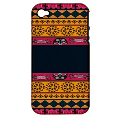 Pattern Ornaments Africa Safari Apple Iphone 4/4s Hardshell Case (pc+silicone)