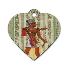 Egyptian Design Man Royal Dog Tag Heart (two Sides)