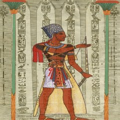 Egyptian Design Man Royal Magic Photo Cubes