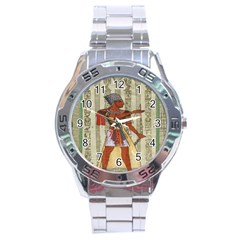 Egyptian Design Man Royal Stainless Steel Analogue Watch