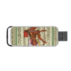 Egyptian Design Man Royal Portable Usb Flash (two Sides)