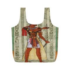 Egyptian Design Man Royal Full Print Recycle Bags (m)