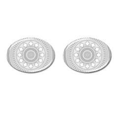 Mandala Ethnic Pattern Cufflinks (oval)