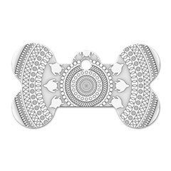 Mandala Ethnic Pattern Dog Tag Bone (one Side)