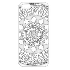 Mandala Ethnic Pattern Apple Iphone 5 Seamless Case (white)