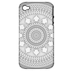 Mandala Ethnic Pattern Apple Iphone 4/4s Hardshell Case (pc+silicone)