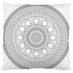 Mandala Ethnic Pattern Standard Flano Cushion Case (one Side)