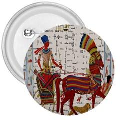 Egyptian Tutunkhamun Pharaoh Design 3  Buttons