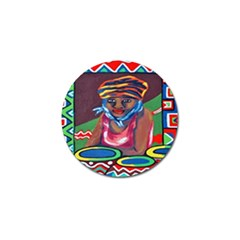 Ethnic Africa Art Work Drawing Golf Ball Marker (10 Pack)