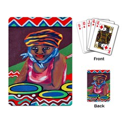 Ethnic Africa Art Work Drawing Playing Card