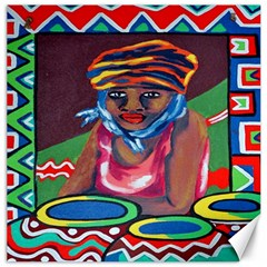 Ethnic Africa Art Work Drawing Canvas 20  X 20