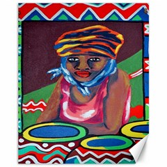 Ethnic Africa Art Work Drawing Canvas 11  X 14