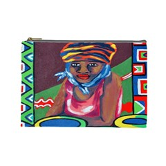 Ethnic Africa Art Work Drawing Cosmetic Bag (large)