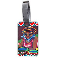 Ethnic Africa Art Work Drawing Luggage Tags (two Sides)