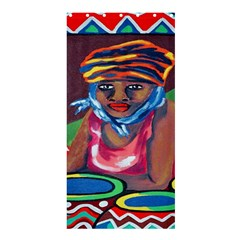 Ethnic Africa Art Work Drawing Shower Curtain 36  X 72  (stall)