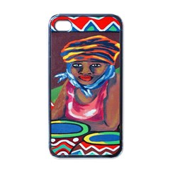 Ethnic Africa Art Work Drawing Apple Iphone 4 Case (black)