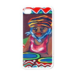 Ethnic Africa Art Work Drawing Apple Iphone 4 Case (white)