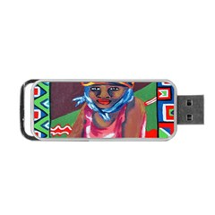 Ethnic Africa Art Work Drawing Portable Usb Flash (one Side)