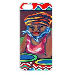 Ethnic Africa Art Work Drawing Apple Iphone 5 Seamless Case (white)